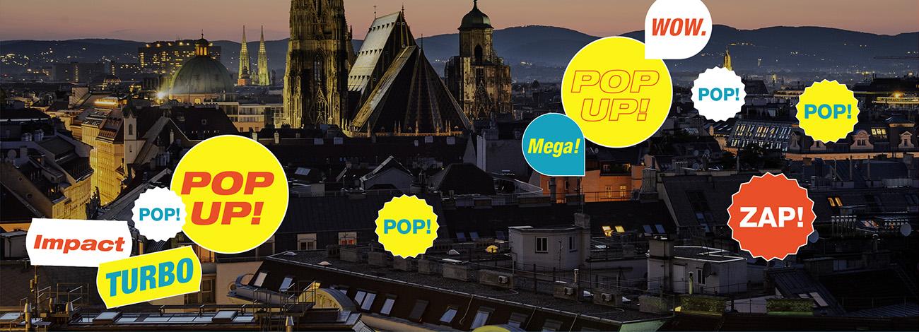 Pop-up Werbeflächen